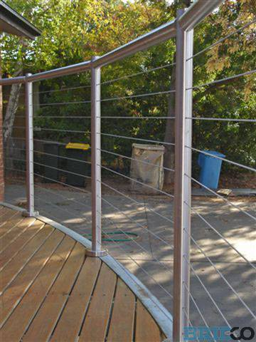 ... Bridco Wire Rope And Glass Balustrade Insitu (11) ...