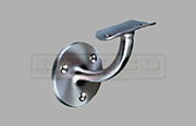 Wall mount handrail bracket - fixed for round rail