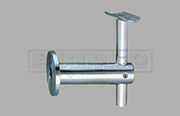 Wall mount handrail bracket for round rail