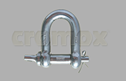 Cromox safety dee shackle Grade 60 stainless steel