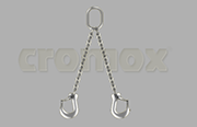 Cromox welded pump chain 2 leg Grade 60 stainless steel