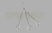 Cromox welded pump chain 3 leg Grade 60 stainless steel