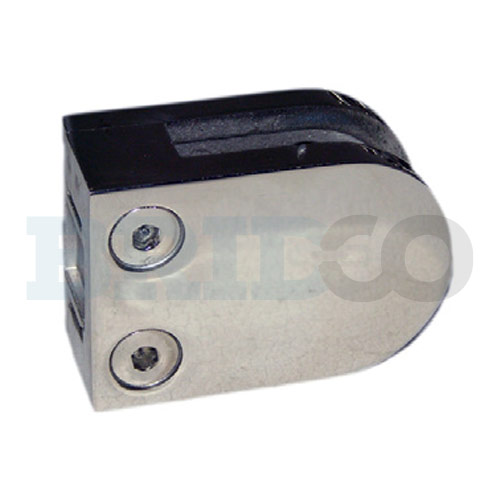 D Shape Glass Clamp For Flat Post