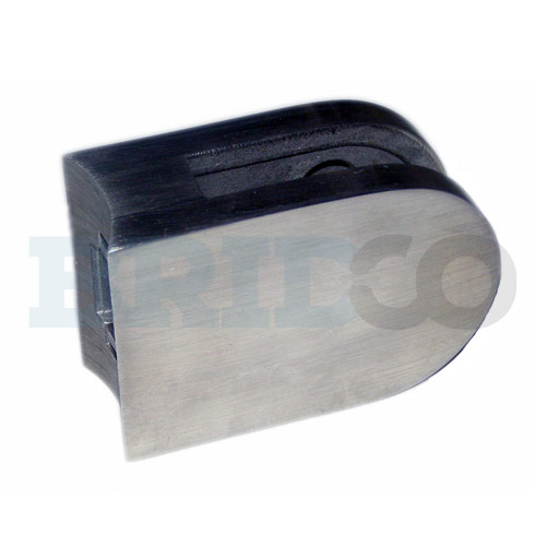 D Shape Glass Clamp For Round Post