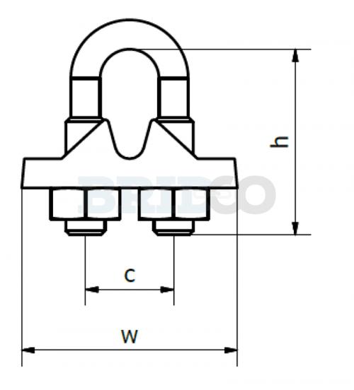 Galvanised Rope Grip diagram 2