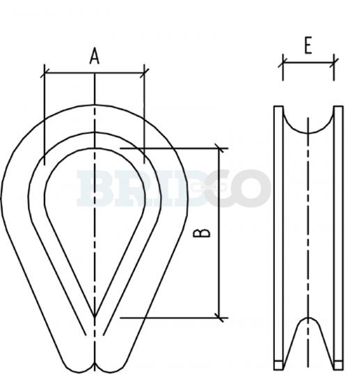 Galvanised Thimble diagram