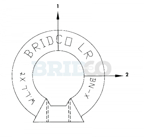 Load Rated Eye Nut diagram2