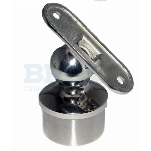 Rail Support Adjustable For Flat Handrail