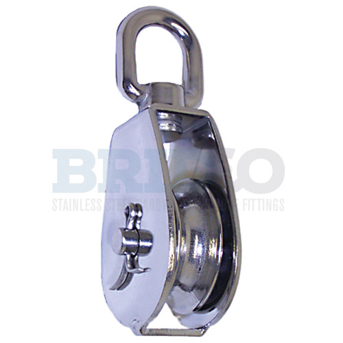 Small Swivel Head Block with Stainless Steel Sheave with becket