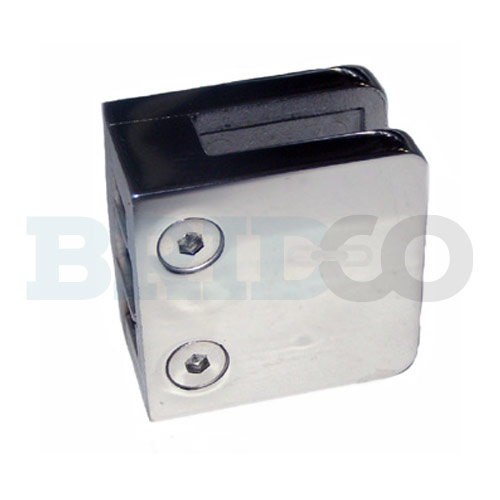 Square Glass Clamp For Flat Post