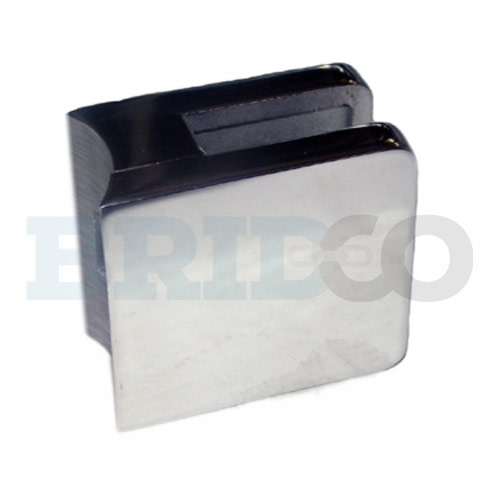 Square Glass Clamp For Round Post