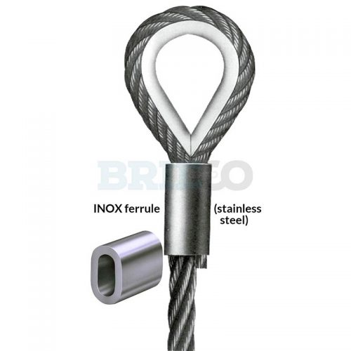Stainless Steel INOX Ferrule and thimble