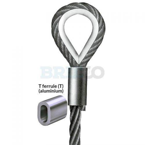 Aluminium T ferrule