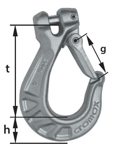 cromox Clevis Hooks CGHF diagram