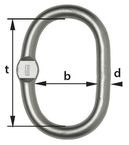 cromox Oblong Master Link CAGF  diagram